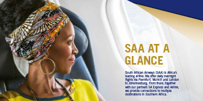 South African Airways Product Flyer