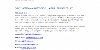 SAA Privacy Policy- May 2018